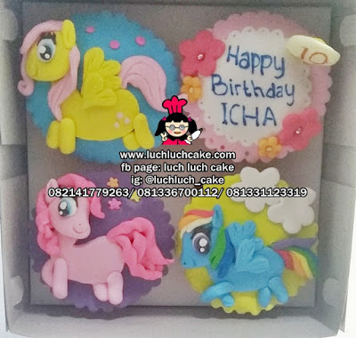 My Little Pony Cupcake Fondant 2d