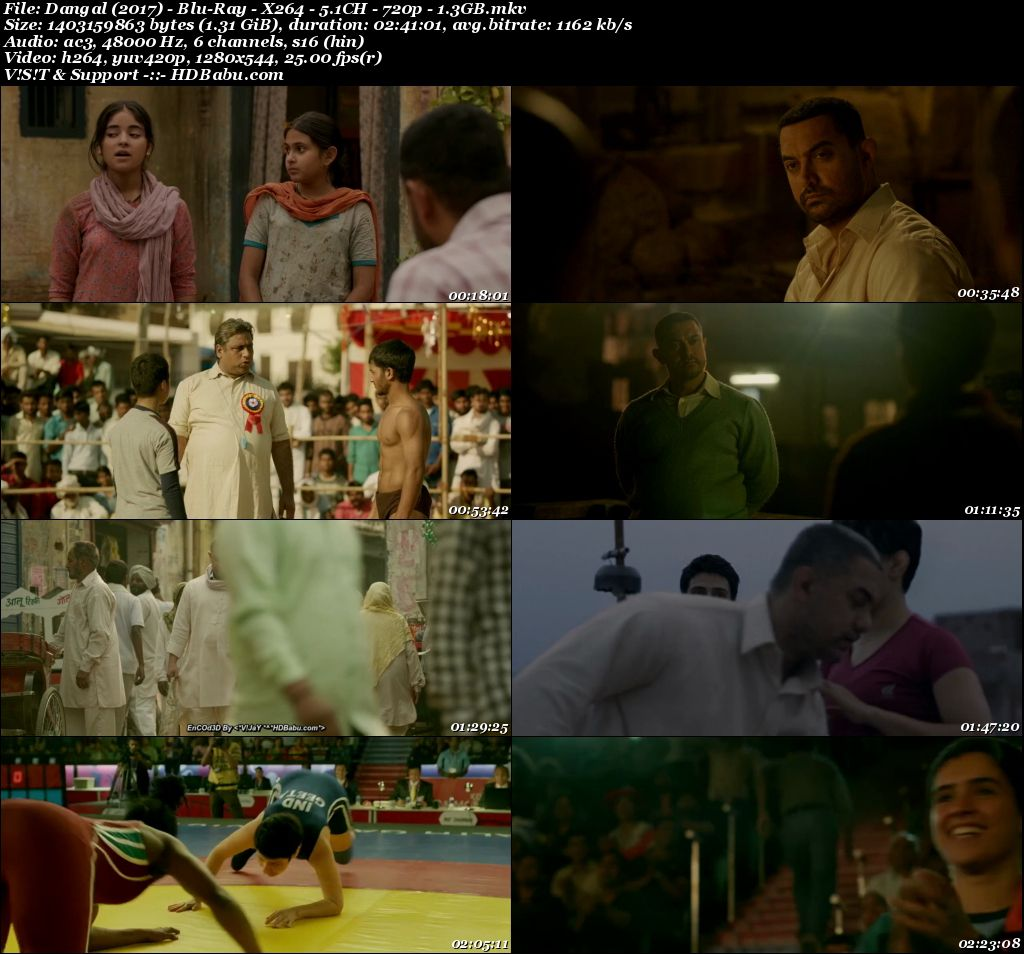 Dangal (2017) - Blu-Ray - X264 - 5.1CH - 720p - 1.3GB Screenshot