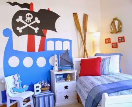 dormitorio tema marino