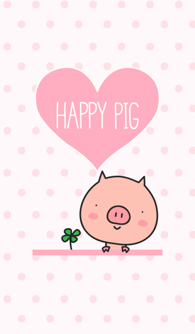 Happy Pig pink