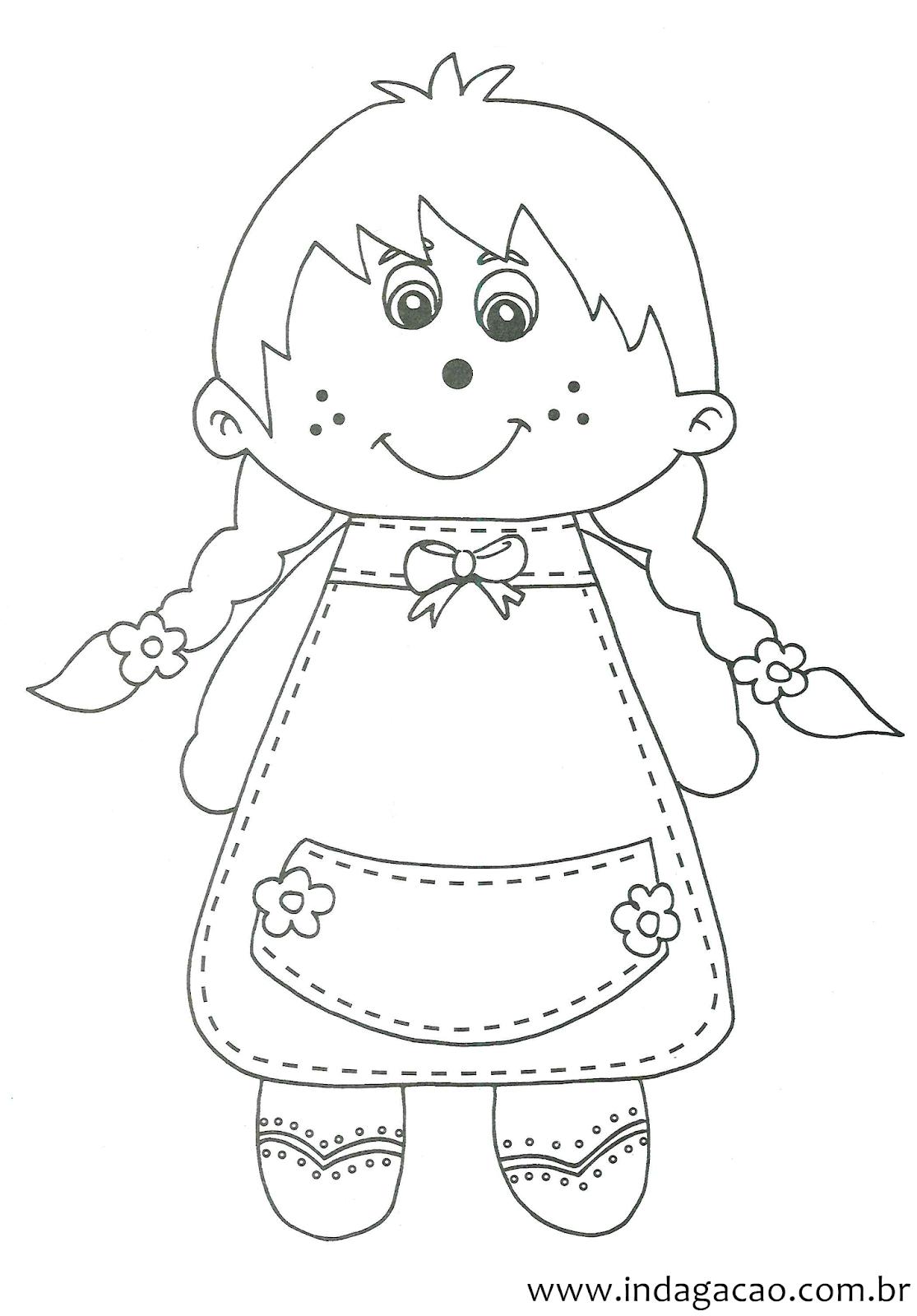 Desenho Para Desenhar Menina Baixar Gratis Indagacao