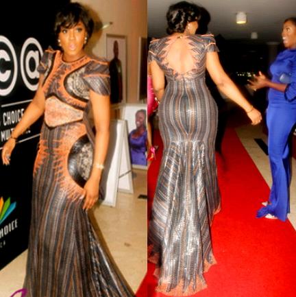 omotola jalade african magic dress