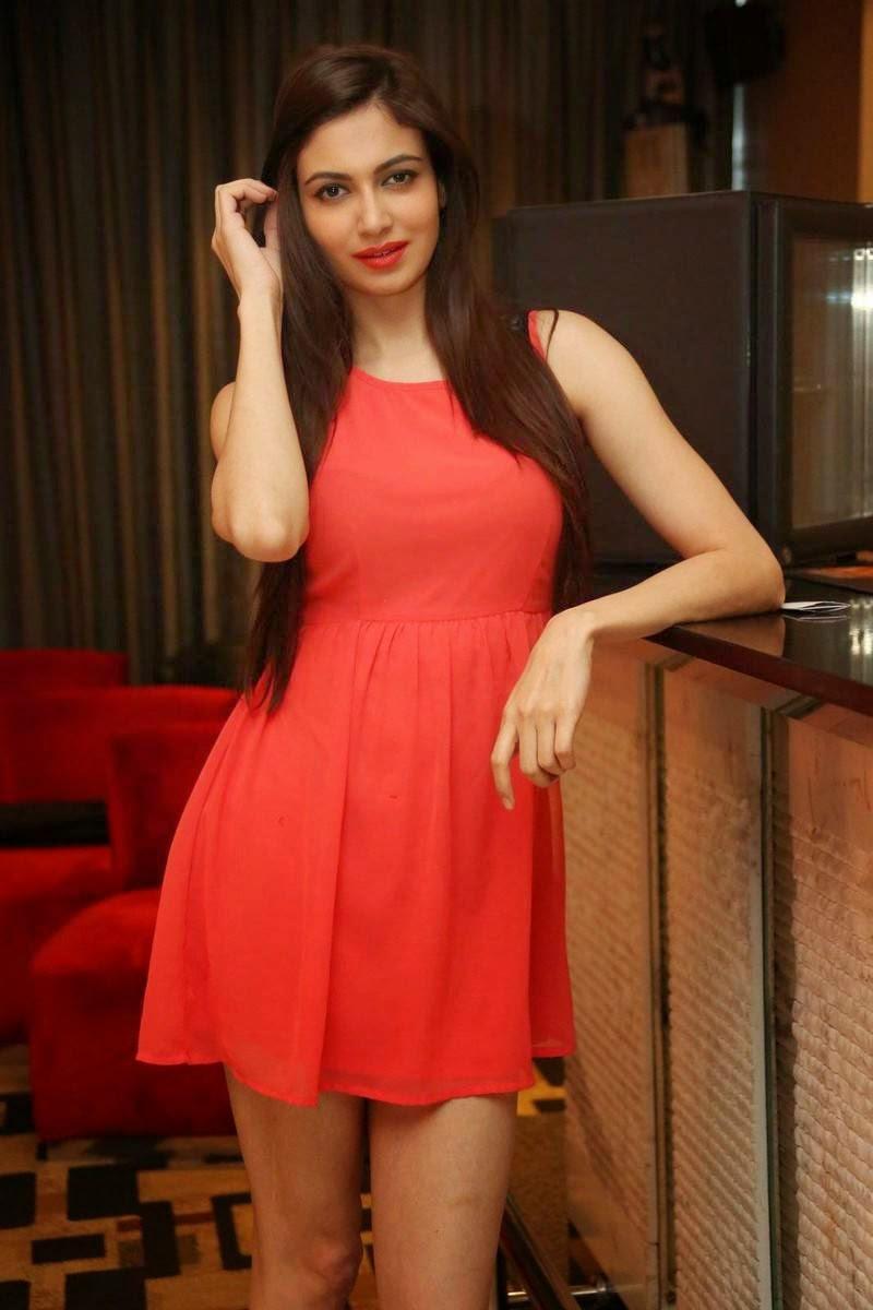 Simran Kaur Mundi Latest Stills, Simran Kaur Mundi Long Legs hot Pics in Red short Dress & Boots