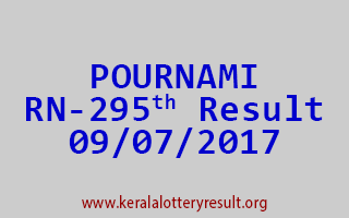 POURNAMI Lottery RN 295 Results 9-7-2017