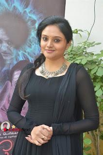 Actress Kala Kalyani Stills in Black Salwar Kameez at Engeyum Naan Iruppen Audio Launch  0005.jpg