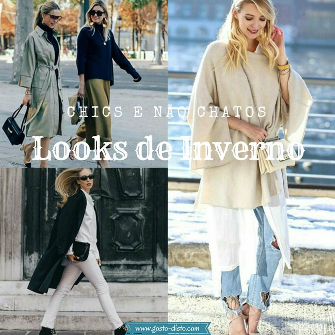 Looks de inverno chics sem serem chatos