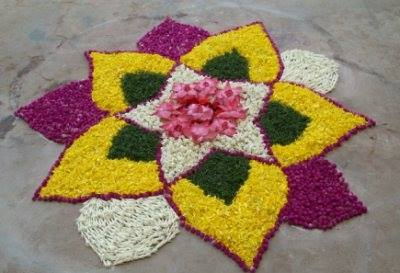 Simple Rangoli for Diwali 7