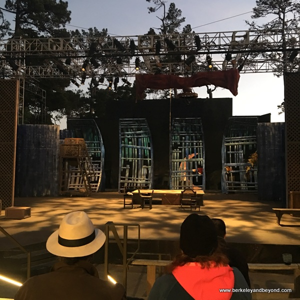 stage at Outdoor Forest Theater in Carmel, California