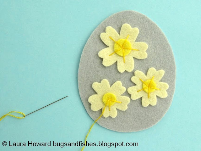 add embroidery to the primroses