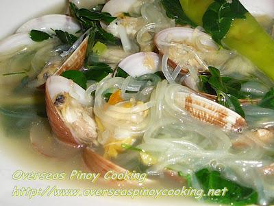 Tinolang Halaan with Sotanghon Noodles