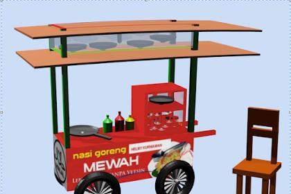 Membuat Gerobak dengan Blender Animasi 3D