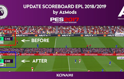 PES 2017 Scoreboard English Premier League 2018/2019 by AZ Mods