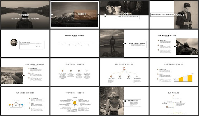 FREE 100+ Unique Slides Multi Purpose Premium Powerpoint Template 1-16