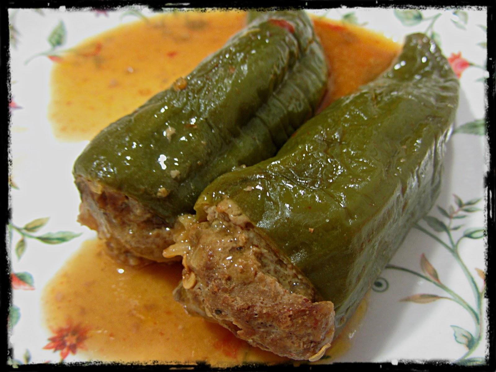 Pimientos Italianos Rellenos De Carne