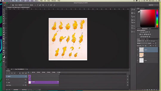 Hacer animación 2D con Photoshop