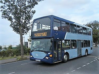 Former Metrobus Scania YN53RYB seen on Waveney Drive in Lowestof