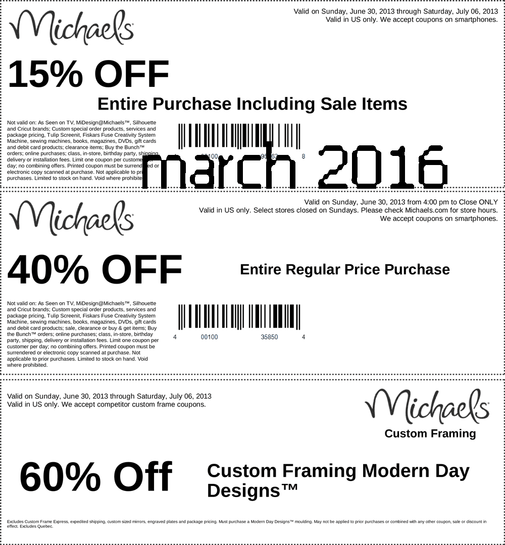 Michaels printable coupons 2019