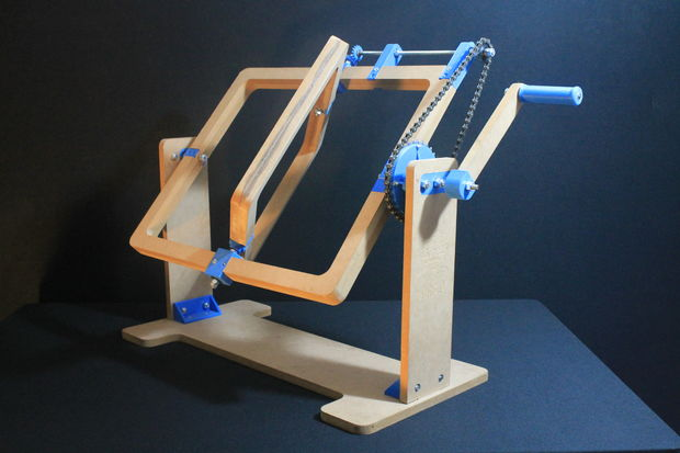 Diy 3d printing diy rotational casting machine made from for Made with 3d printer