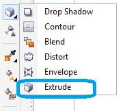 membuat objek 3d menggunakan tool extrude