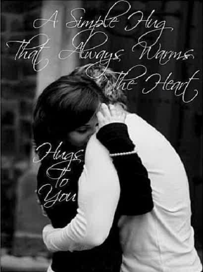 Sweet Romantic I Love U Quotes: Peace Of Mind: One Great Big Hug After Another, For One