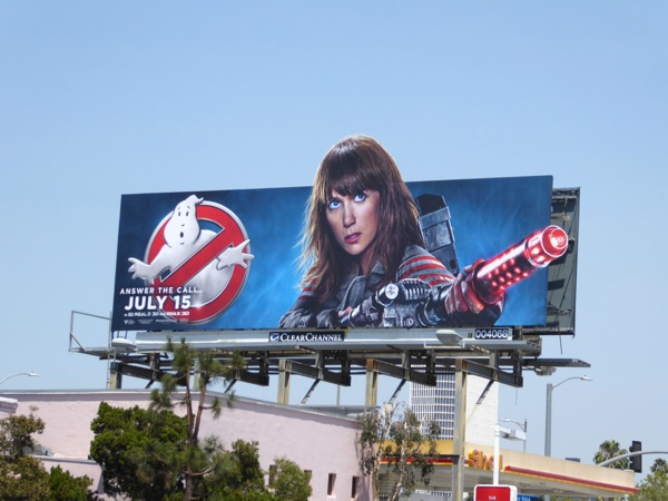 Kristen Wiig Ghostbusters movie billboard