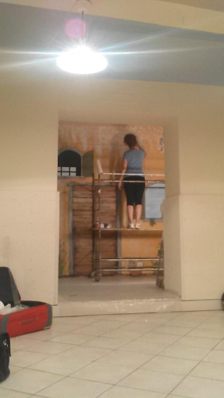 Katia dipinto su parete in legno - Parete di legno ...