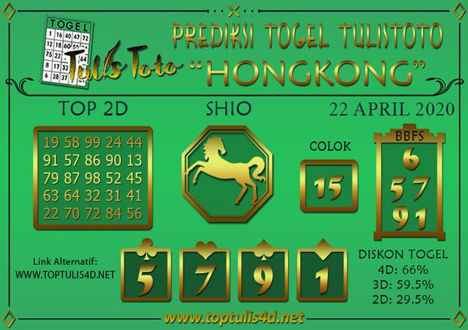 Prediksi Togel HONGKONG TULISTOTO 22 APRIL 2020