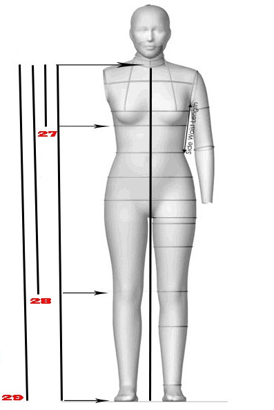 The correct method for taking body measurements accurately is the art of detailing and sewing