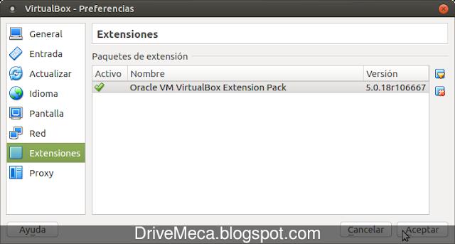 DriveMeca instalando Virtualbox en Linux Ubuntu 16.04 LTS paso a paso