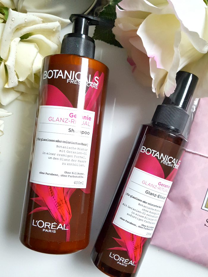 BOX STORIES by gofeminin - Just Bloom botanicals fresh care geranie shampoo glanz elixir