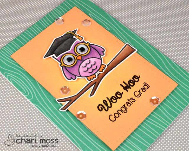 Sunny Studio Stamps: Woo Hoo Owl Graduation Card by Chari Moss