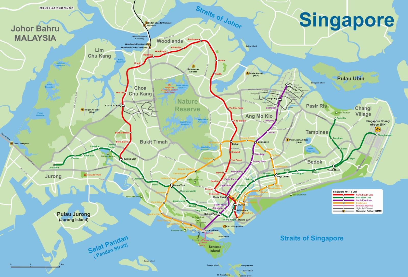 Cingapura ou Singapura | Mapas Geográficos de Singapura