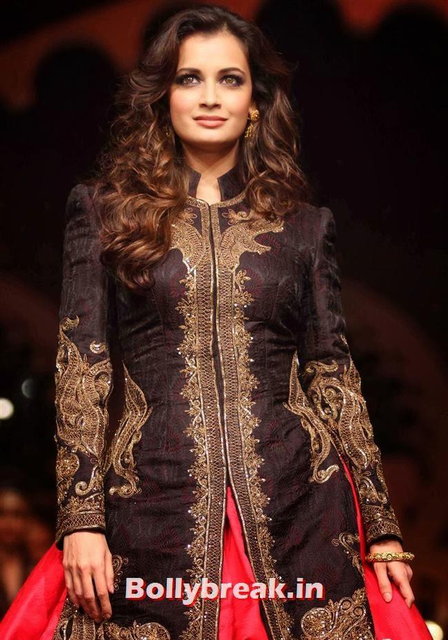 Dia Mirza, Bollywood Celebs at India Bridal Fashion Week