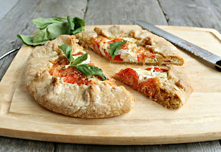 Tomato, Goat Cheese and Basil Galette
