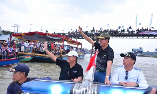 Pemkot Palembang Gelar Lomba Bidar Mini di Sungai Keramasan