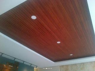 harga plafon kayu merbau