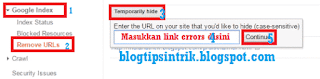 cara hapus link crawl errors google webmaster tools