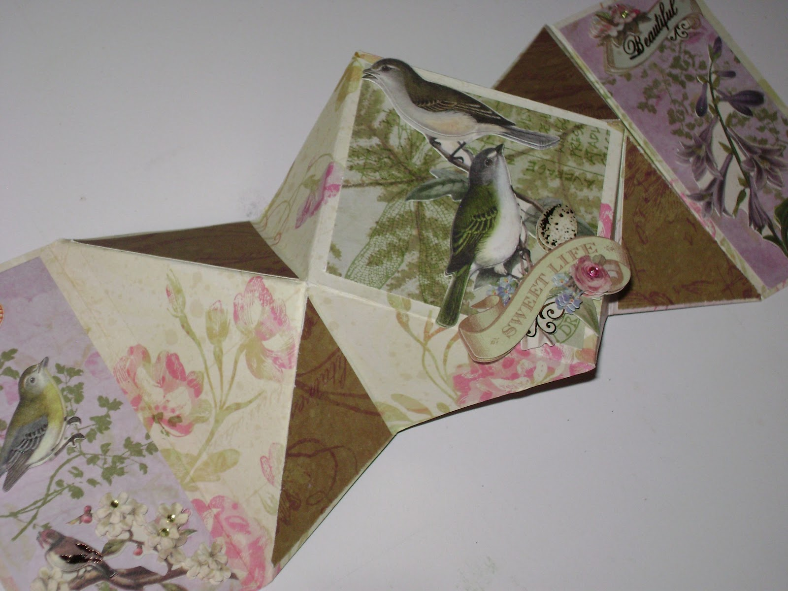how to make a double diamond fold card