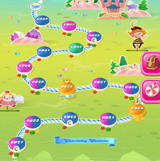 Candy Crush Saga level 6021-6035