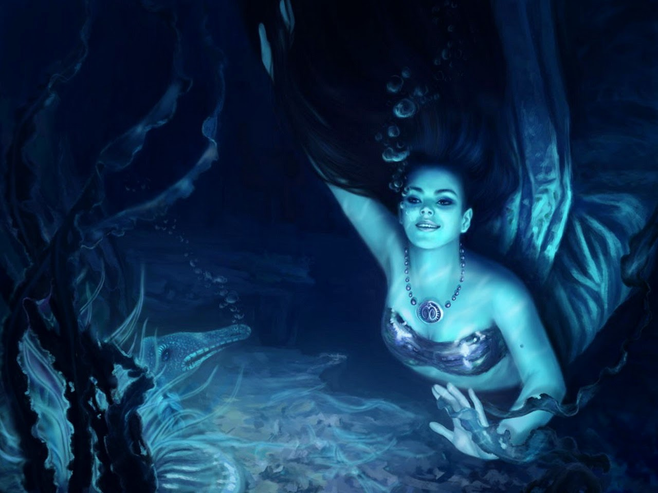 real life mermaid girls photography with photoshop