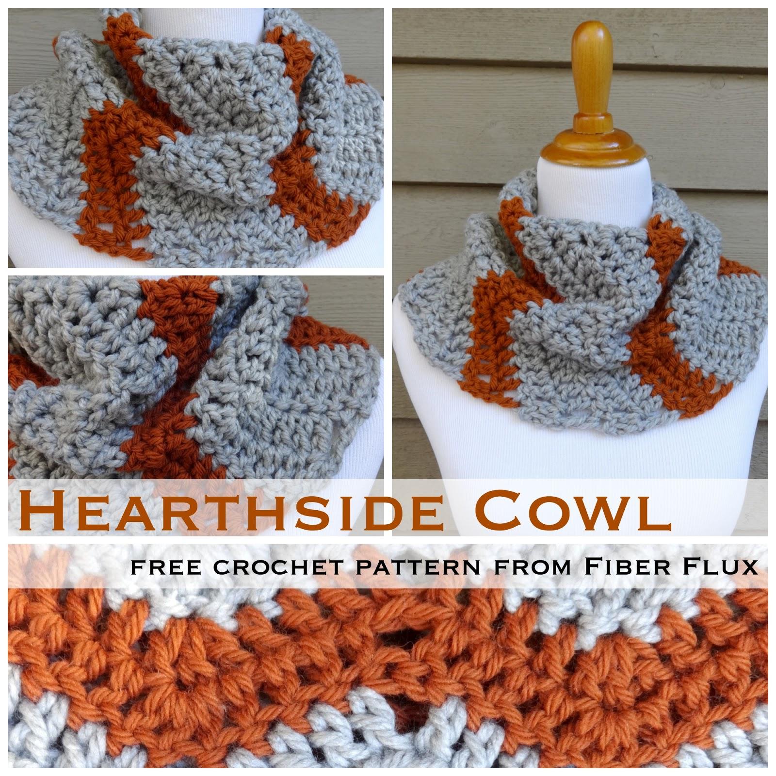 Fiber Flux: Free Crochet Pattern...Hearthside Cowl!
