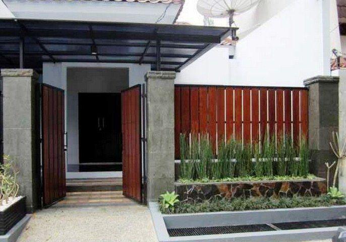 Pagar Rumah Kayu Sederhana Modern
