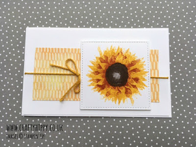 Simple sunflower notecard by Stampin' Up!
