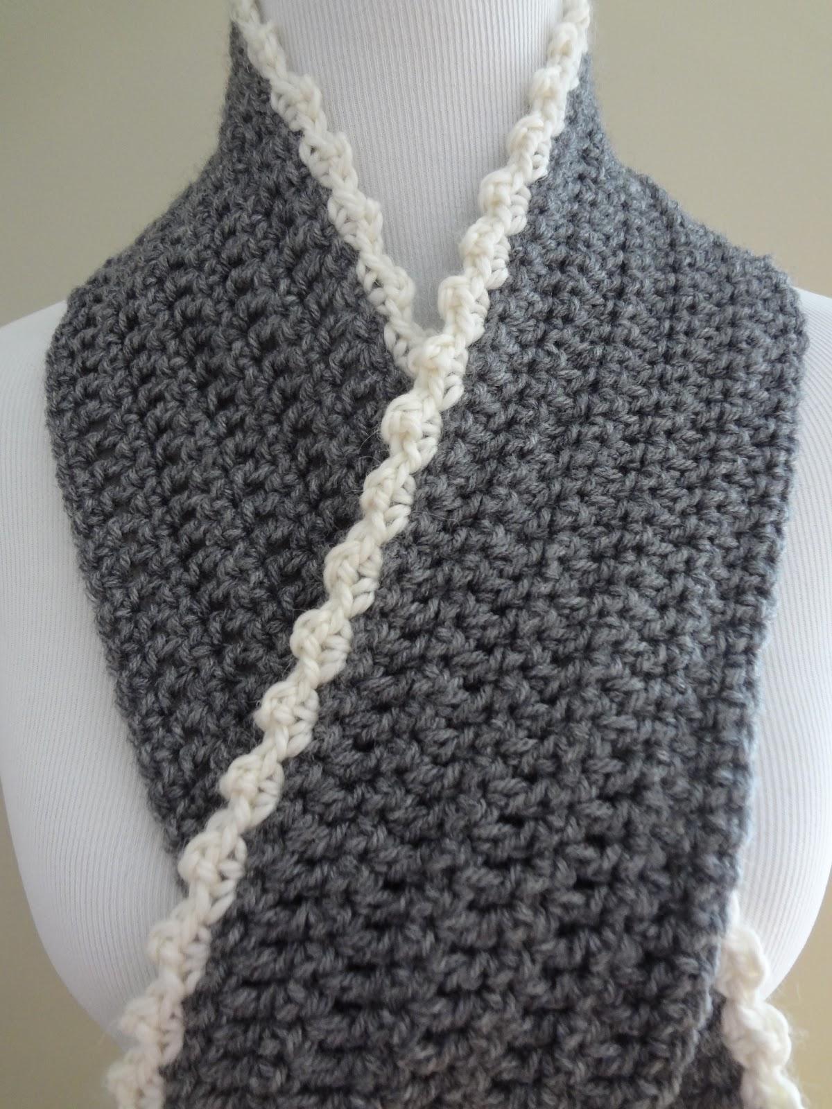 Fiber Flux Free Crochet Patterngrid Scarf