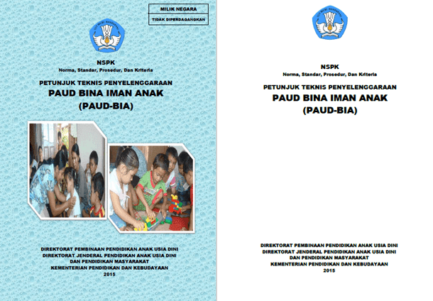 Juknis Penyelenggaraan PAUD Bina Iman Anak (PAUD-BIA)