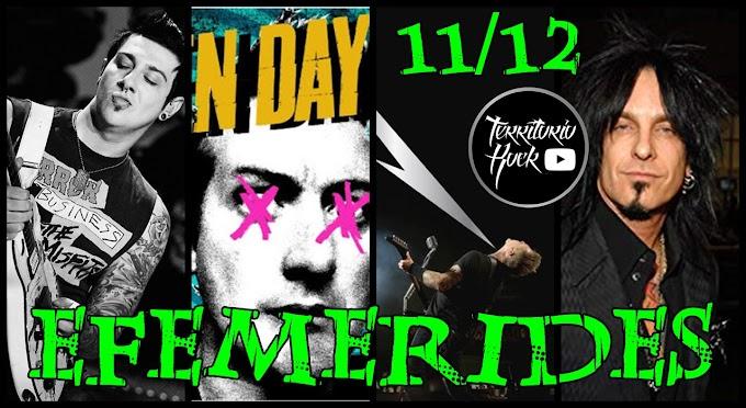 EFEMERIDES ROCK 11 de Diciembre (video)
