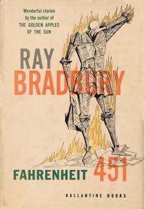 Portada original de Fahrenheit 451, de Ray Bradbury