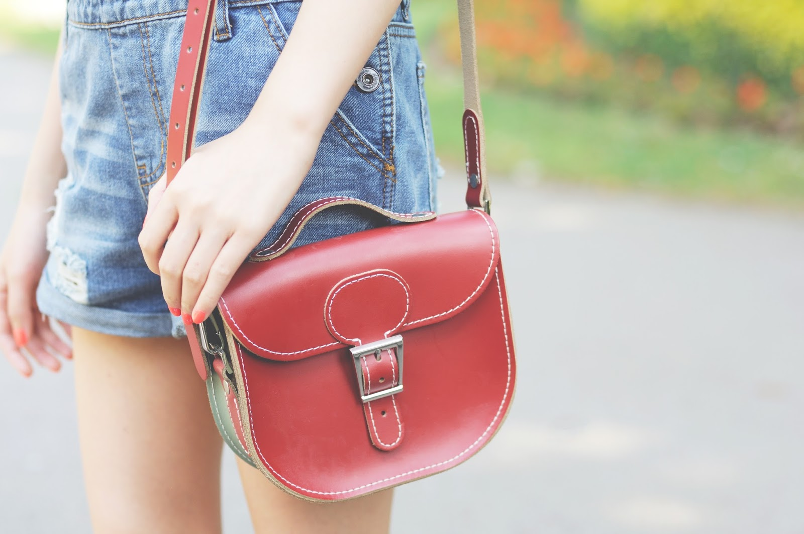 red leather bag from BritStitch