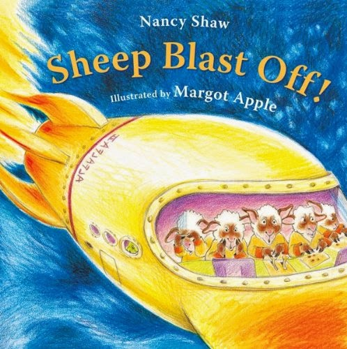 Sheep Blast Off, part of children's book review list about outer space