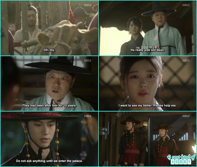 ra on ask help from head eunuch to help her meet her father byung yun and ra on disguise themselves in royal guards uniform to meet Hon gyeong nae  - Love In The Moonlight - Episode 16 Review (Eng Sub) park bo gum & kim you jung